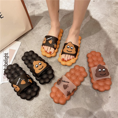 Cartoon Casual Clip Toe Herringbone Thick Bottom Slippers NSPE55984