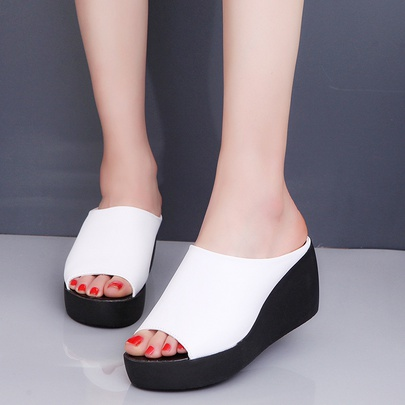 Summer New Fashion Outdoor Wedge Thick Bottom Sandals NSZSC56118