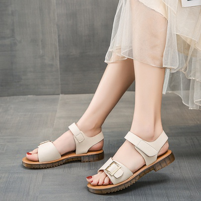 Fashion Buckle Flat Sandals NSZSC56178