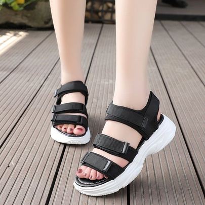 Summer New Thick-soled Sports Wind Open Toe Shoes NSZSC56287