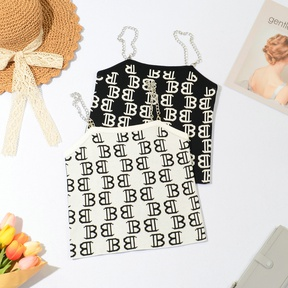 new fashon Chain letter printed camisole NSYAY56970
