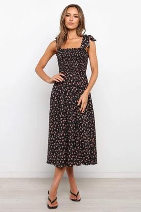 Summer Fashion Printed Thin Sling Dress  NSLIB57188