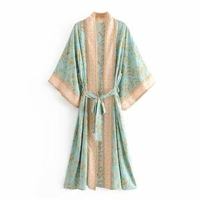 printing mid-length kimono jacket NSAC57409