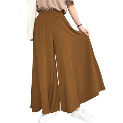 Large Size Loose High Waist Slimming Elastic Waist Wide Leg Pants  NSLIB54770