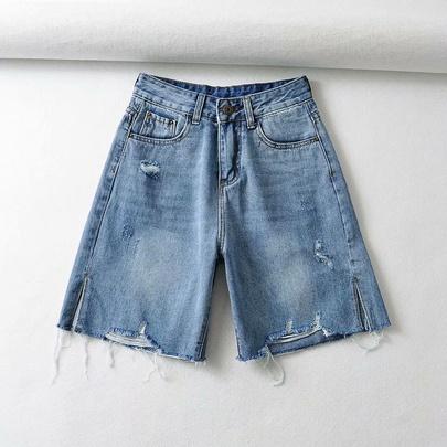 Wholesale High-waisted Slim-fitting Straight-leg Denim Pants NSAM54545
