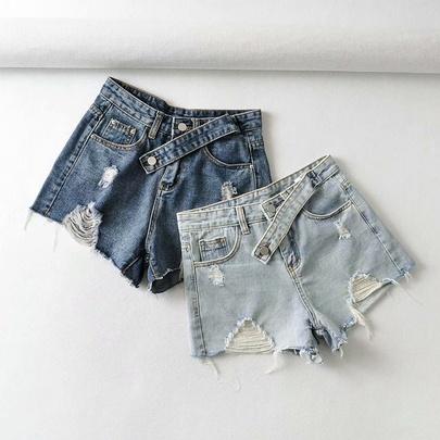 Wholesale New Loose Plus Size Denim Shorts NSAM54556