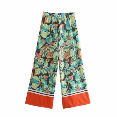 Wholesale Spring Festival Printing Drape Straight Leg Pants  NSAM54608