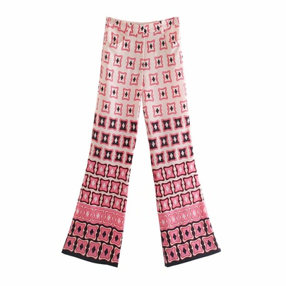 Wholesale Summer Print Flared Casual Pants NSAM54637