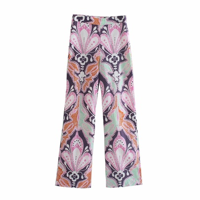 Wholesale Spring Festival Printed Linen Casual Pants  NSAM54640