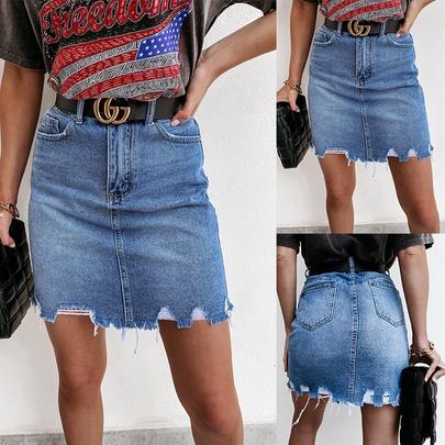 Summer New Casual Bag Hip Denim Skirt NSCX54726