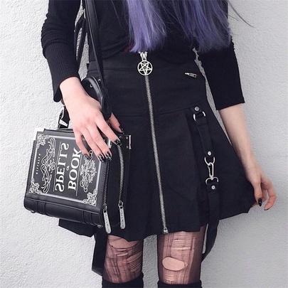 Zipper Spring And Autumn New Splicing Skirt  NSMEI54851